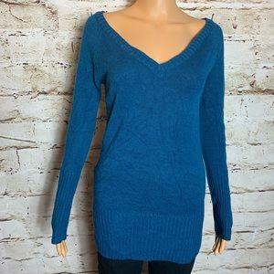 Turquoise V-Neck Sweater